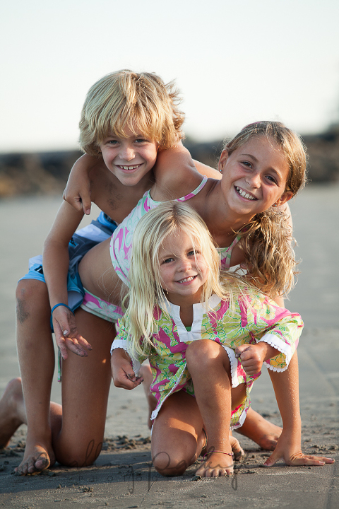 kids beach photos