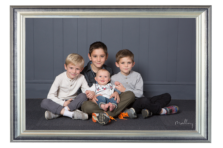 framed grandchildren photo